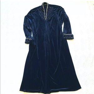 Jasmine Rose  Velour Robe XL House Coat Pockets